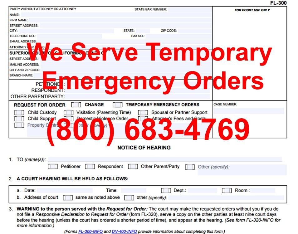 temporary emergency ex parte orders