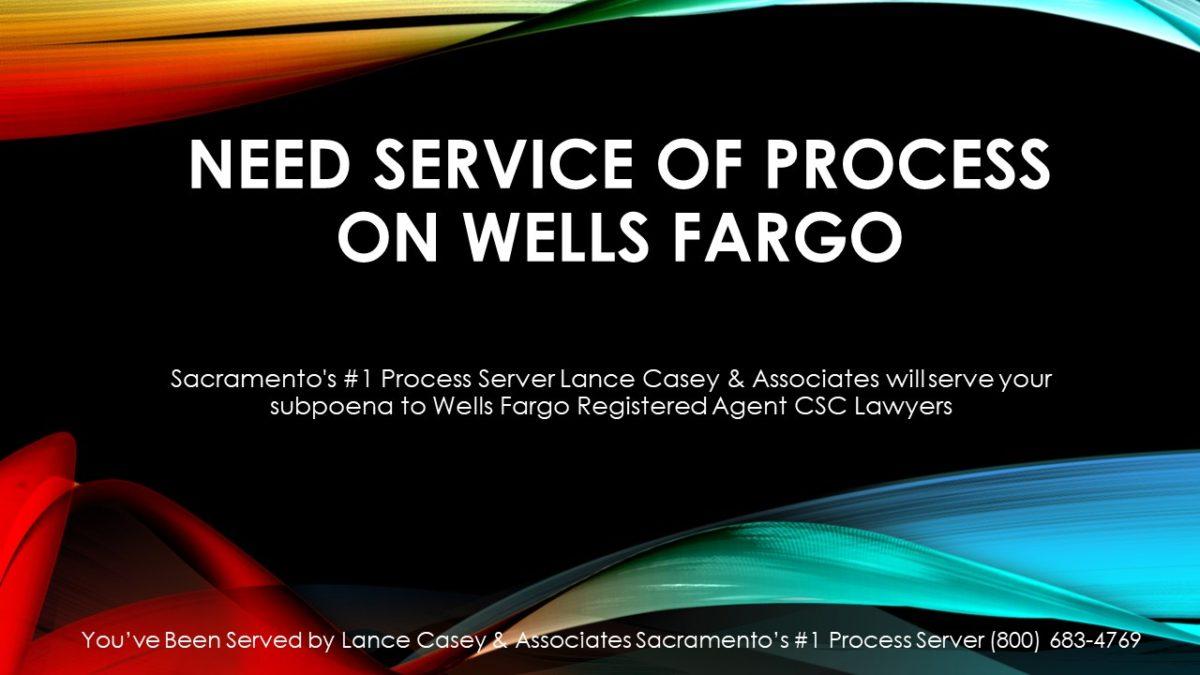Wells Fargo Subpoena Department