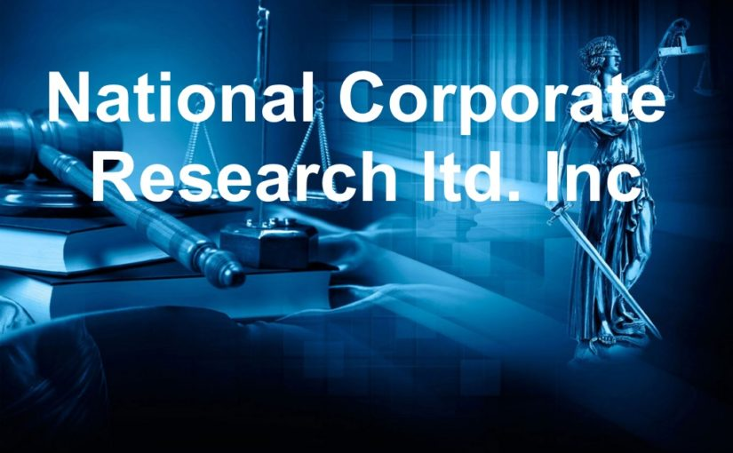 National Corporate Research ltd. Inc