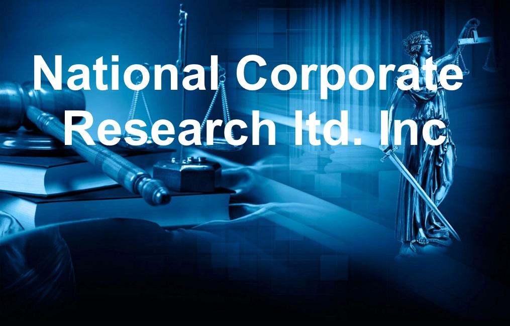 National Corporate Research ltd. Inc
