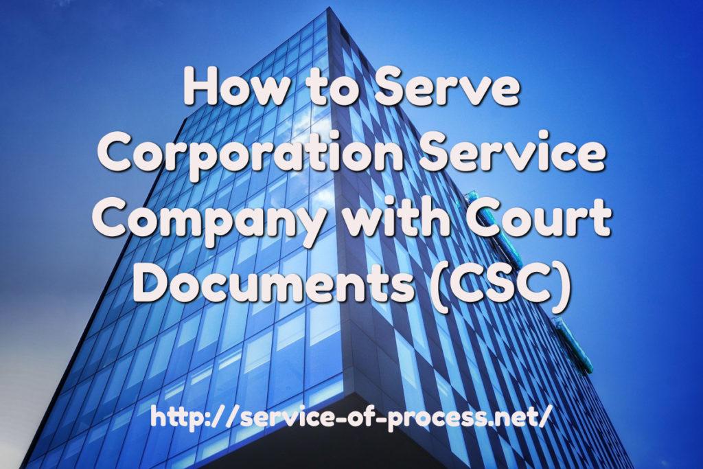 corporation service company California address