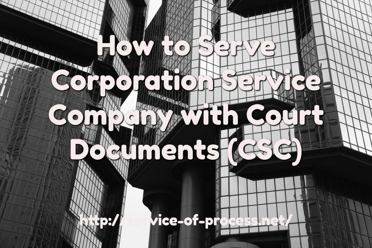 corporation service company