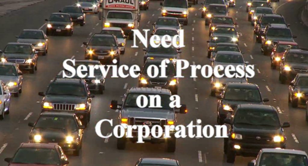 how to serve a corporation