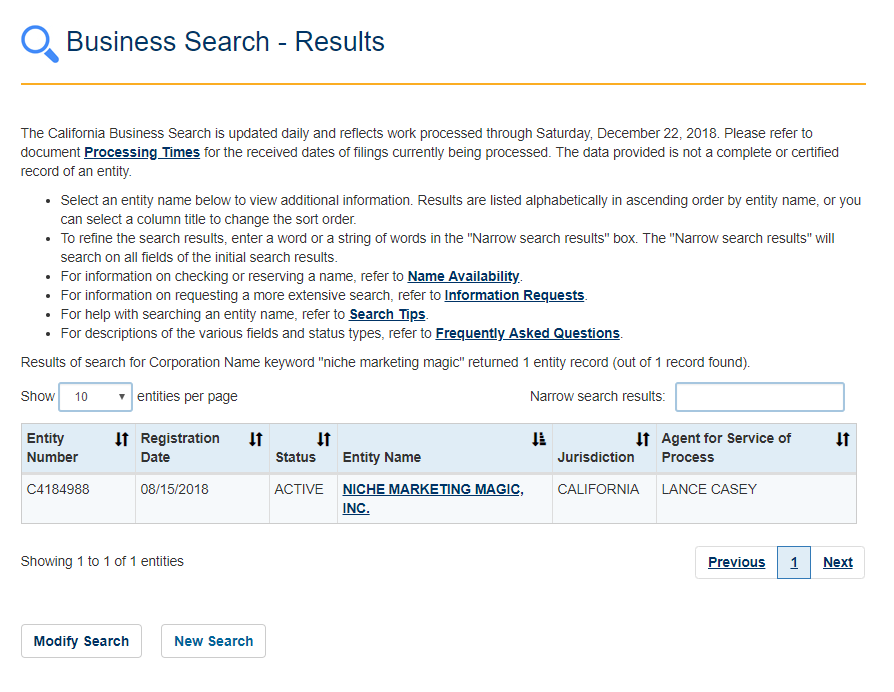 california secretary of state business search8